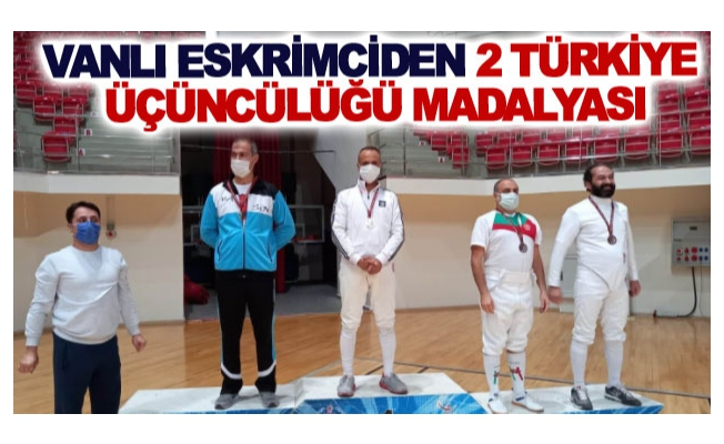 Vanlı eskrimciden 2 Türkiye üçüncülüğü madalyası