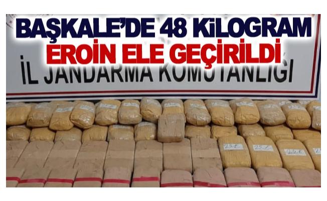 Başkale'de 48 kilogram eroin ele geçirildi