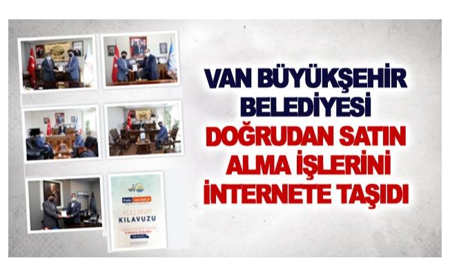 Van Büyükşehir Belediyesi doğrudan satın alma işlerini internete taşıdı