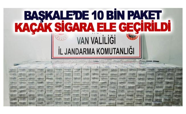 Başkale'de 10 bin paket kaçak sigara ele geçirildi