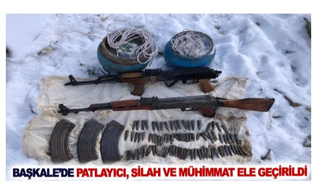 Başkale'de patlayıcı, silah ve mühimmat ele geçirildi