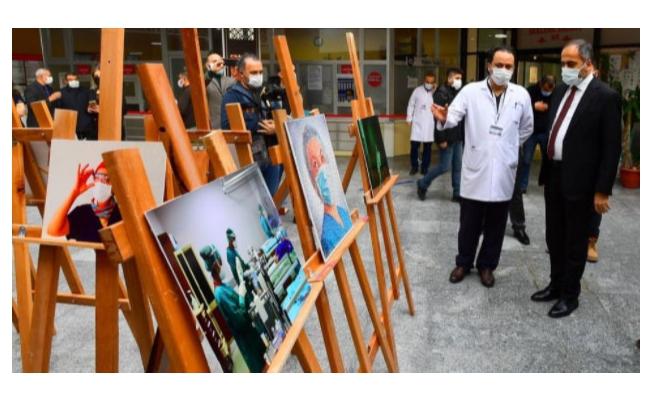Sağlık çalışanlarından korona virüs farkındalık sergisi