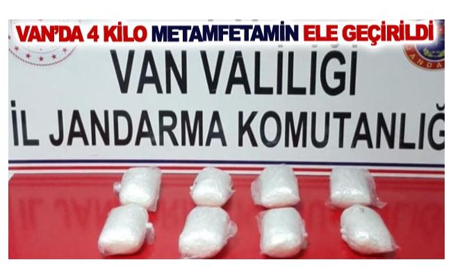 Van'da 4 kilo metamfetamin ele geçirildi
