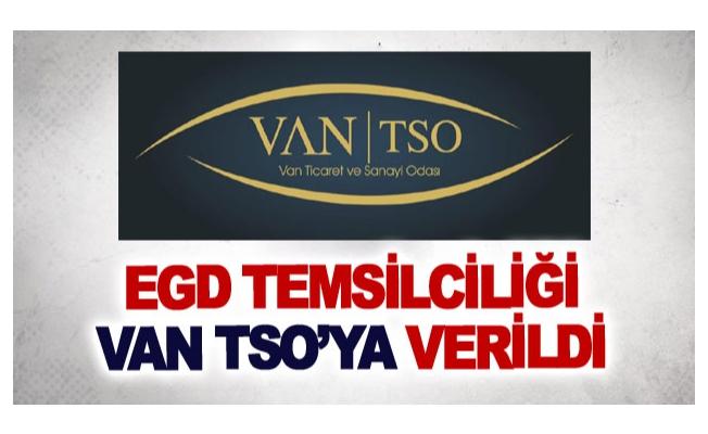 EGD Temsilciliği Van TSO'ya verildi