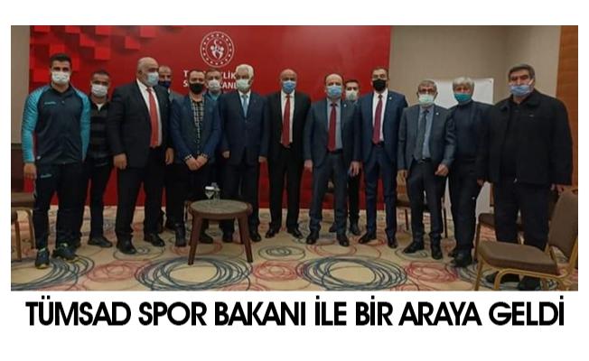 TÜMSAD Gençlik ve Spor Bakanı Kasapoğlu ile bir araya geldi