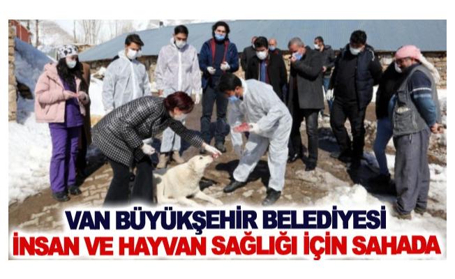 Van Büyükşehir Belediyesi insan ve hayvan sağlığı için sahada