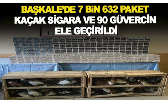 Başkale'de 7 bin 632 paket kaçak sigara ve 90 güvercin ele geçirildi