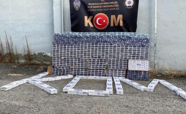 Başkale'de 9 bin paket kaçak sigara ele geçirildi