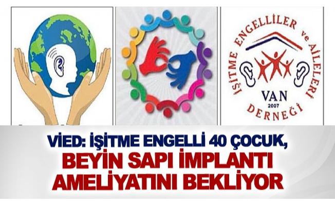 VİED: İşitme engelli 40 çocuk, beyin sapı implantı ameliyatını bekliyor