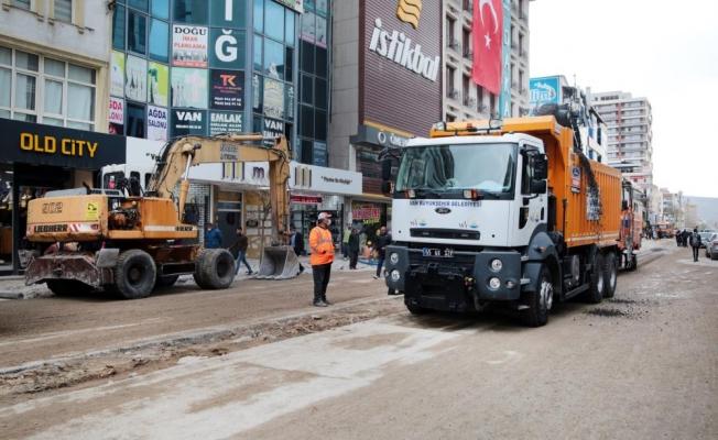 Hacıbekir Caddesi'nin son etabında çalışmalar başlatıldı