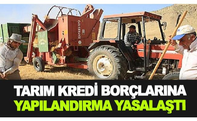 Tarım Kredi borçlarına yapılandırma yasalaştı