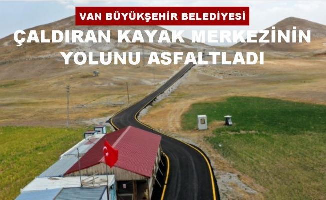 Büyükşehir Belediyesi'nden Çatak Kayak Tesisi yoluna asfalt