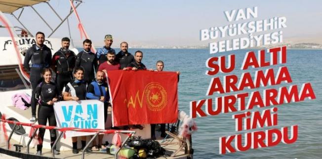 Van Büyükşehir'den Su Altı Arama ve Kurtarma Ekibi