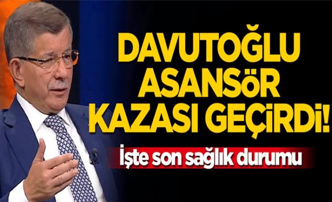 Ahmet Davutoğlu Van'da asansör kazası geçirdi İşte son durumu..