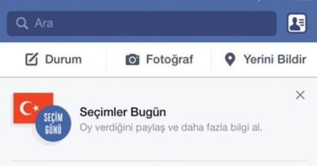 Facebook'tan bomba süpriz 'Oy Veriyorum' butonu