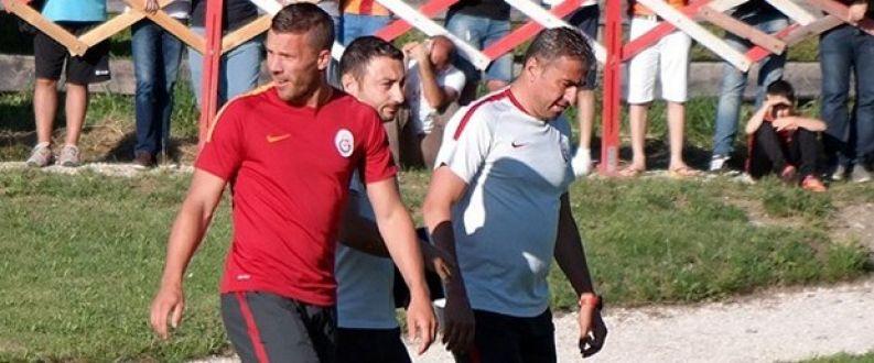 Galatasaray idmanında Burak Podolski gerginliği!
