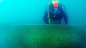 Van Gölü'nde batık Rus şilebi bulundu (2)