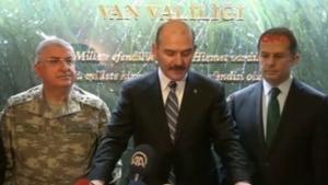 İçişleri Bakanı Süleyman Soylu Van valiliği'nde açıklama yaptı