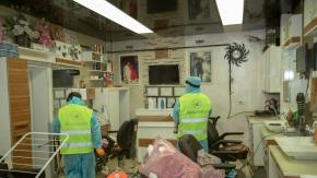 Van'da berber ve kuaförler dezenfekte edildi