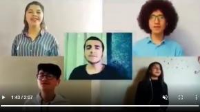 Van#039;da Yetenekli Gençlerden Bizim Eller Türküsü#039;yle evde kal çağrısı